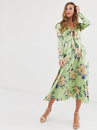98ae5f845f33 Asos Vestito midi con nodo a fiori vintage - Multicolore