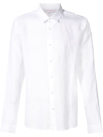 Orlebar Brown Camisa de linho mangas longas - Branco