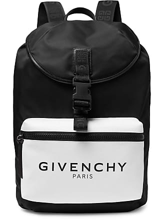 Givenchy Glow-in-the-dark Logo-print Canvas And Shell Backpack - Black