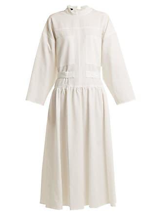 Joseph Camille Tie Waist Dress - Womens - White