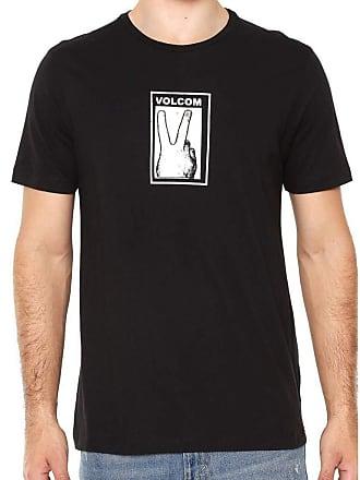 Volcom Camiseta Volcom Silk Slim Peace Preta