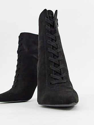 cca82f6e7fe Asos Wide Fit Elicia lace up heeled boots - Black