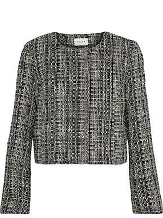 Milly Milly Woman Cropped Cotton-blend Tweed Jacket Black Size 4