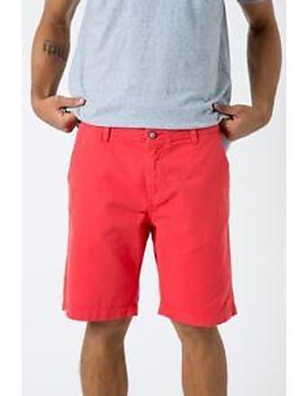 Foxton Bermuda Casual Chino Color V16 Vermelho
