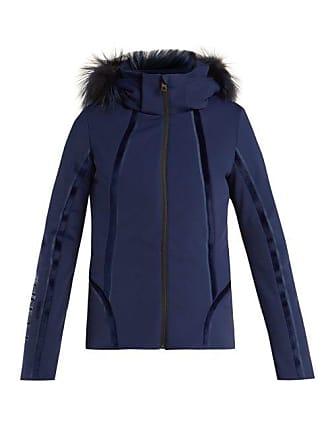 Fendi Roma Logo Embroidered Ski Jacket - Womens - Navy d1b3f8943