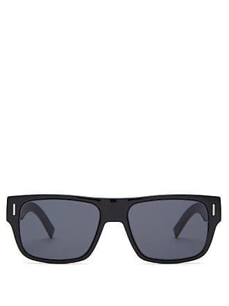Lunettes Dior Diorfraction Square Acetate Sunglasses - Mens - Black
