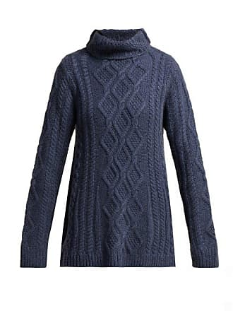 Queene and Belle Queene And Belle - Hester Funnel Neck Cashmere Sweater - Womens - Navy