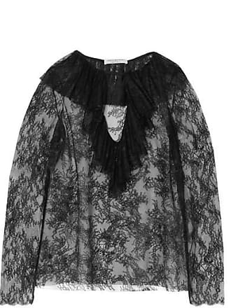 Philosophy di Lorenzo Serafini Ruffled Lace Blouse - Black