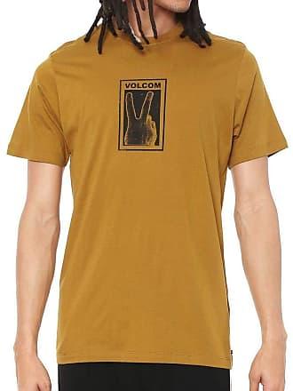 Volcom Camiseta Volcom Silk Slim Peace Caqui