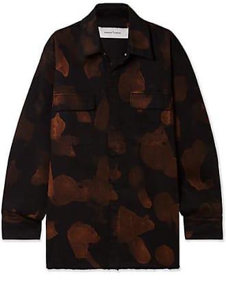 Marques Almeida Oversized Bleached Denim Shirt - Black