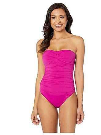 67ff474390 Delivery: free. Ralph Lauren Beach Club Solids Twist Bandeau Underwire One- Piece (Plumeria) Womens Swimsuits