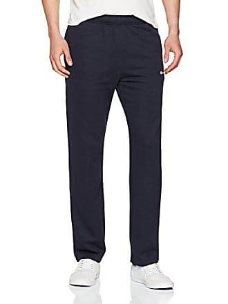 028270950448 Champion Straight Hem Pants Pantalon de Sport Homme Bleu (NNY Bleu Bs501)  Taille Fabricant