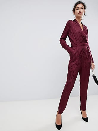 Y.A.S Textured Jumpsuit - Red
