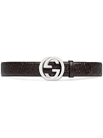 e0ba9ba321d Gucci GG Supreme buckle belt - Brown
