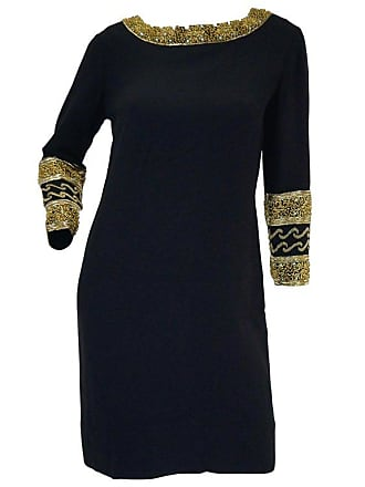 c68e42c3661 1stdibs 1960s Maisonette Silk Cocktail Dress W  Gold Bead   Blue Rhinestone  Detail