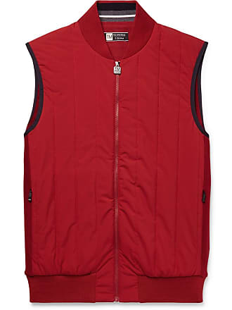 Ermenegildo Zegna Quilted Wool And Shell Gilet - Red