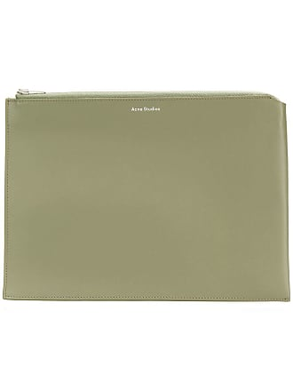 Acne Studios Malachite S zipped pouch - Verde