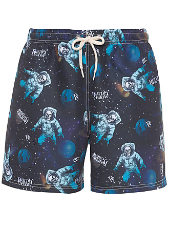 PURPLE YELLOW SHORT MASCULINO ÁGUA SKULL SPACE - PRETO