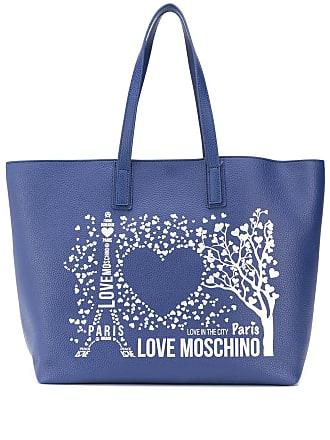 Love Moschino Bolsa tote estampada - Azul