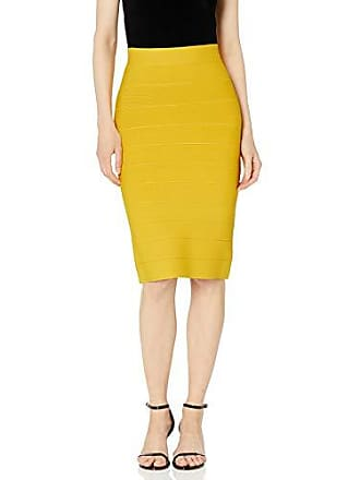 Bcbgmaxazria BCBG Womens Pencil Skirt, Citron, M