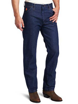 Wrangler Mens Tall Flame Resistant Relaxed Fit Jean, Blue, 36x38