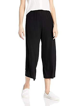 Only Hearts Womens Feather Weight Rib A line Crop Pant, Black, Medium