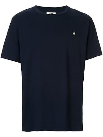 Wood Wood Camiseta com logo - Azul