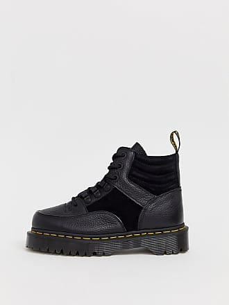 Dr. Martens Zuma flat chunky leather boots in black - Black