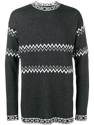 Diesel intarsia-knit jumper - Grey