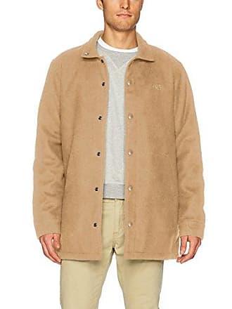 Obey Mens Wally Regular Fit Long Jacket, Bone Brown, M