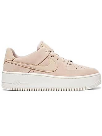 8af987cf50e06 Nike Baskets En Daim Nike Air Force 1 - Rose poudré