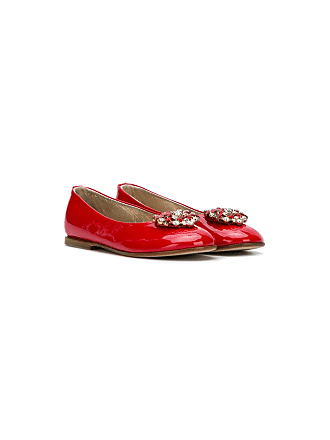 QUIS QUIS crystal embellished ballerina shoes - Red