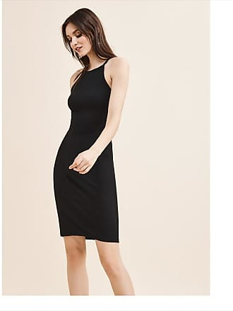 Dynamite Halter Neck Bodycon Dress Jet Black