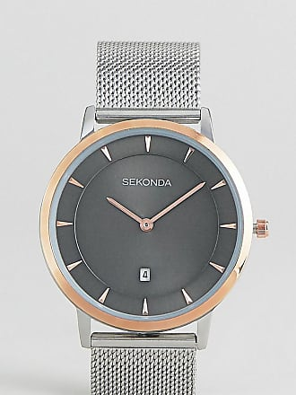 e2f53aff1fba Sekonda Mesh Watch In Silver Rose Gold Exclusive To ASOS