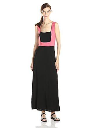 1472605a5fff Star Vixen Womens Sleeveless Colorblock Frame Maxi Dress, Coral/Black,  Medium