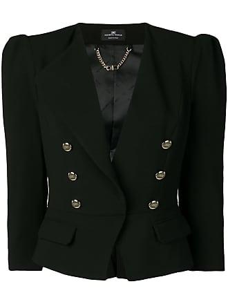 Elisabetta Franchi cropped double-breasted blazer - Black
