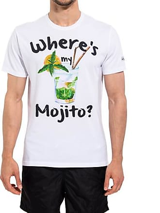 MC2 Saint Barth white t-shirt with mojto print
