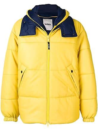 Yves Salomon - Army padded hooded jacket - Yellow