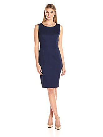 Kasper Womens Textured Sheath Dress, Bright Navy, 10