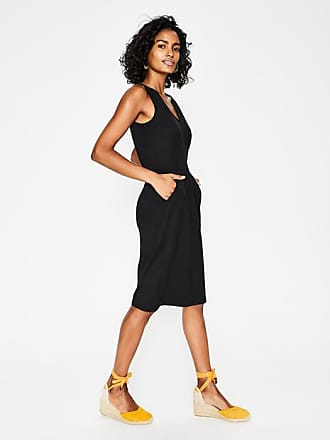 Boden Melinda Jersey Dress Black Women Boden