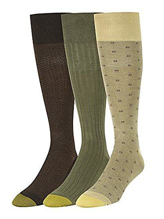 Gold Toe Mens Over The Calf Dress Socks, 3 Pairs, Camel/Olive/Brown, Shoe Size: 6-12.5