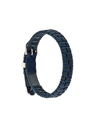 Northskull Pulseira de couro - Azul