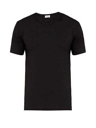 Zimmerli Pureness Stretch Jersey T Shirt - Mens - Black