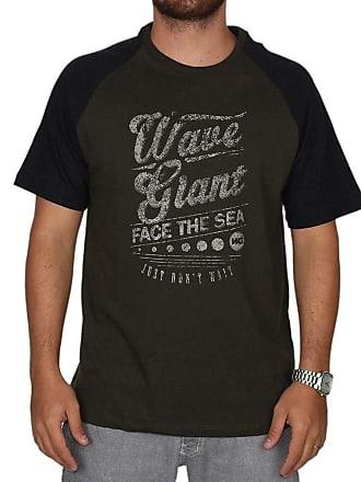 Wave Giant Camiseta Wg Especial Raglan Face - Verde - M