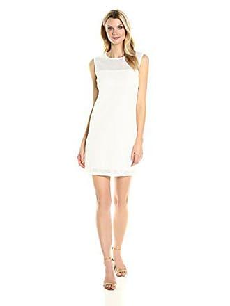 Joan Vass Womens Cotton Mesh Dress, White, S