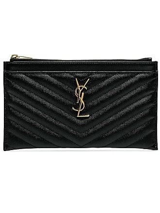 ae690aaf7e4 Saint Laurent black monogram matelasse quilted leather clutch