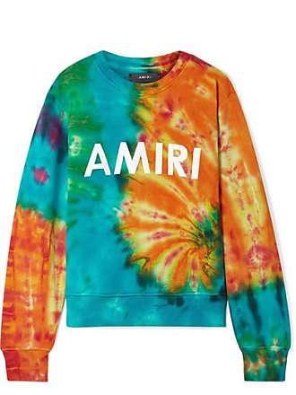Amiri Printed Tie-dyed Cotton-jersey Sweatshirt - Orange