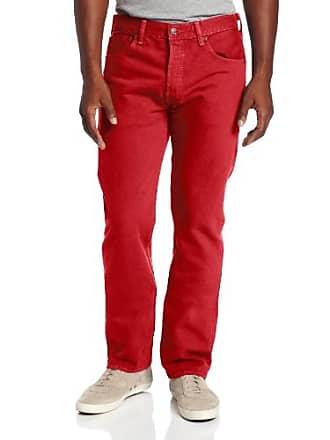 350cdb00d5c Levi's Mens 501 Original Fit Jean, Jester Red Garment Dye, 36x29