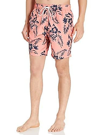 9e3760f879 Nautica Mens Quick Dry Palm Print Series Swim Trunk, Pale Coral, XX-Large