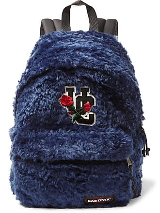 Undercover + Eastpak Appliquéd Faux Fur And Canvas Backpack - Navy